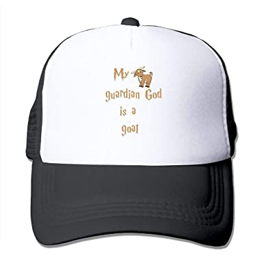 c0cfbea6470 My Guardian God is A Goat Mesh Trucker Caps Hats Adjustable Unisex ...