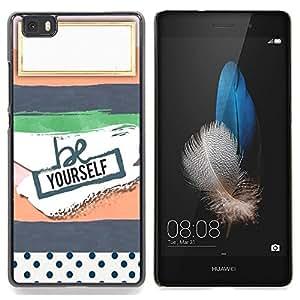 Stuss Case / Funda Carcasa protectora - Notebook nombre aquí etiqueta vacía - Huawei Ascend P8 Lite (Not for Normal P8)