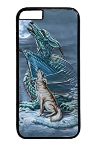 iPhone 6 Case and Cover -Dragon Wolf Moon PC case Cover for iPhone 6 and iPhone 6 Black