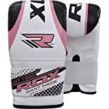 RDX Gel Bag Mitts Ladies Boxing Gloves Grappling Punch MMA Womens Pink Gym KickBoxing