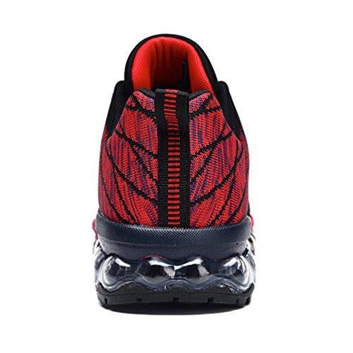 de adulto bajo LFEU Unisex rojo caño negro botas y 5RxXXwqz