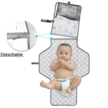 Amazon.com: Portátil bebé pañal cambiador – Estrellas Wish ...