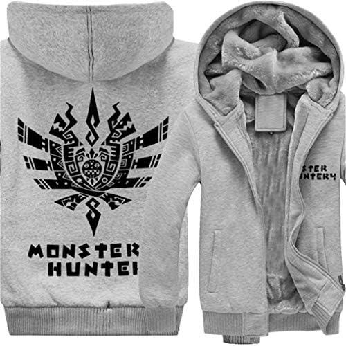 Gumstyle Detective Conan Anime Unisex Full-Zip Hoodie Coat Winter Thicken Fleece Warm