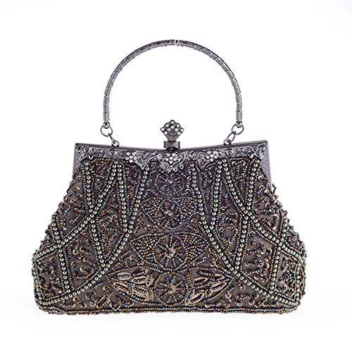 Ladies Fashion Evening Women Clutch GAOXIA Hellgrau Design Bride Women Bag Shoulder Evening Wedding Beaded Pearl Luxury Handbag Bag Bag wzw8gq