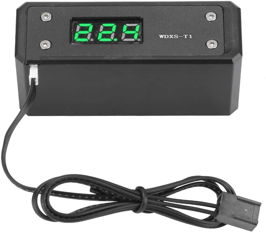 Black Panel + Green Display G1//4 Computer Water Cooling Digital Thermometer High Accuracy for Computer Water Cooling System Wendry Digital Water Cooling Thermometer