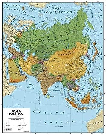 Fisica Cartina Geografica India.Carta Geografica Murale Asia 100x140 Bifacciale Fisica E Politica Amazon It Cancelleria E Prodotti Per Ufficio
