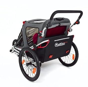 Qeridoo speedkid 2 QL - rojo remolque de bicicleta para los niños de 1 - 2: Amazon.es: Bebé