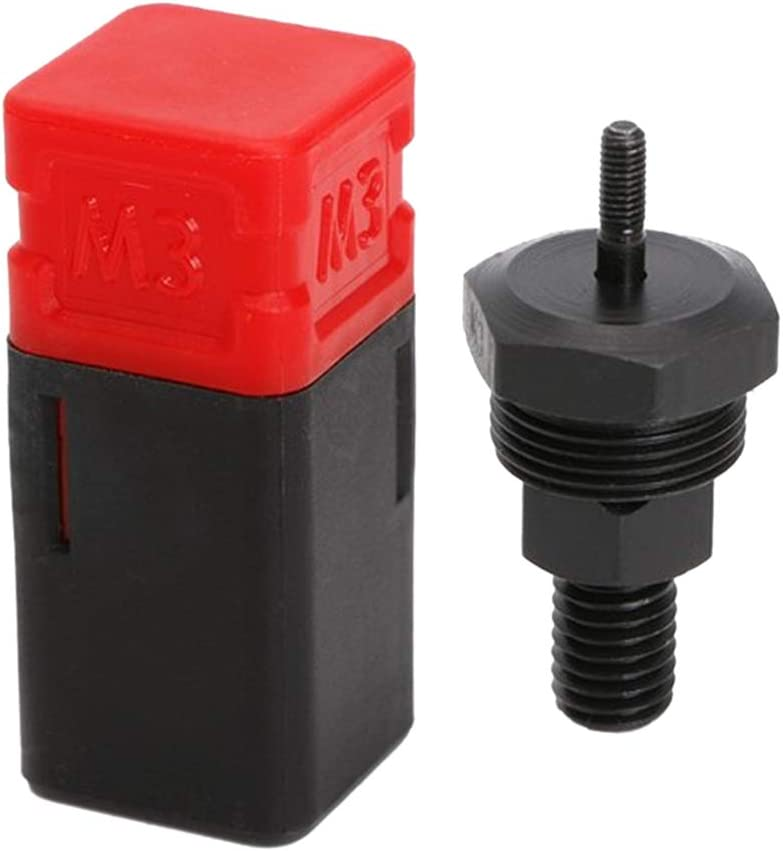 Almencla 1 Set Rivet Nut Mandrel /& Nose Piece Riveter Tip Spare Parts M3-M12 7pcs