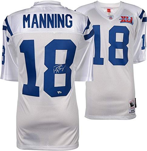 Jersey White Super Bowl - Peyton Manning Indianapolis Colts Autographed Mitchell & Ness 2006 Super Bowl Patch White Authentic Jersey - Fanatics Authentic Certified