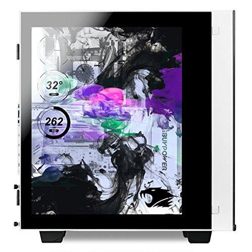 iBUYPOWER Desktop Intel Core i7 16GB Memory NVIDIA GeForce GTX 1080 Ti 120GB Solid State Drive + 1TB Hard Drive White/Black SNOWBLIND 942