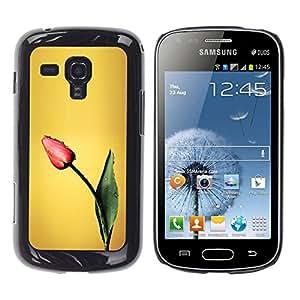 TopCaseStore / la caja del caucho duro de la cubierta de protección de la piel - Tulip Spring Painting Art Flower - Samsung Galaxy S Duos S7562