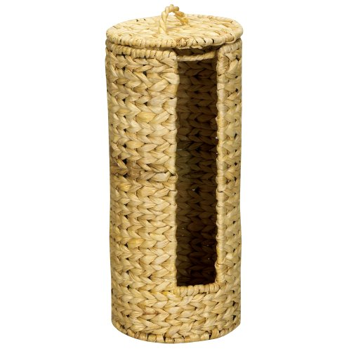 Household Essentials Wicker Toilet Tissue Paper Holder, Free Standing, Natural free shipping