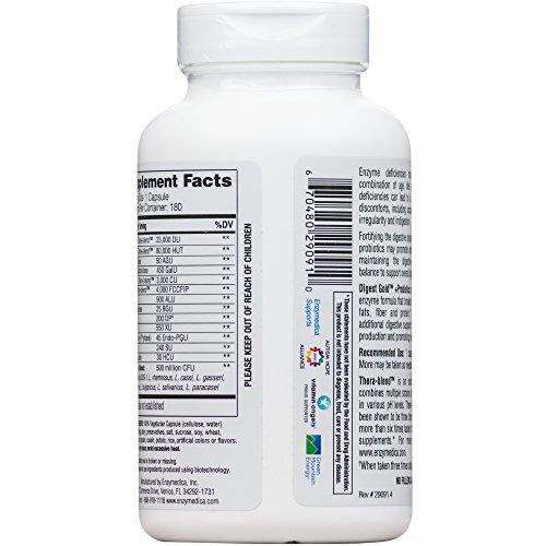 Enzymedica - Digest Gold + Probiotics, Advanced Digestive Enzymes + Probiotics for Essential Digest Care, 180 Capsules (FFP) by Enzymedica (Image #6)