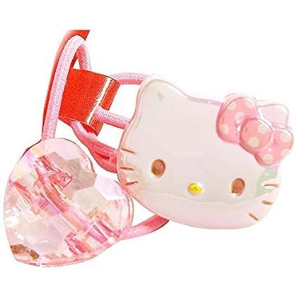 Amazon.com  Sanrio Hello Kitty Design Ponytail Holder One Hair Tie ... 40b6386a0cd