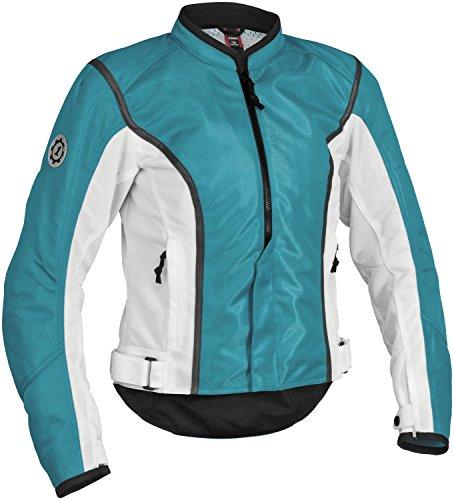 Firstgear Street Bike - FirstGear Contour Women's Mesh Street Bike Racing Motorcycle Jacket - Blue/White / Small