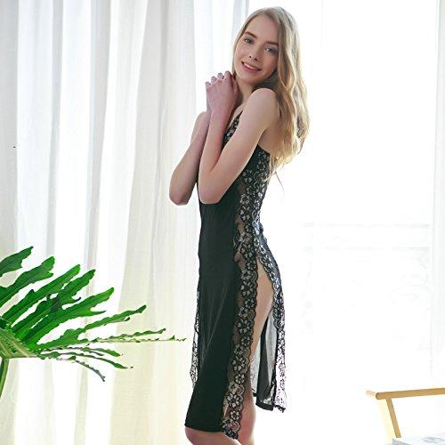 Secxt Sexy Underwear, Retro Style, Qipao Sling, Long Skirt, High Fork, Sexy Pajamas, Lady Lace, Transparent Sling, Sleepwear.Temperament, Underwear, Personality, Comfort, Interest, Performance, Quali]()