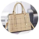 Women PU Leather Bag With Large Capacity Crossbody Bag School Working Tote Bag Handbags,Linen Khaki,