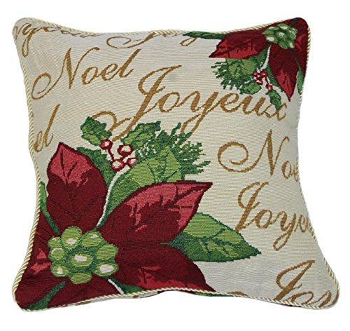 Violet Linen SEASNL CUSHION Decorative Christmas Tapestry Cushion Cover, 18