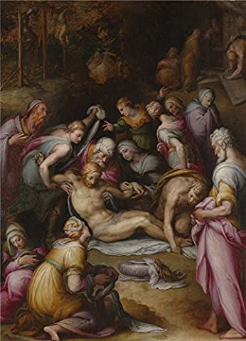 Oil Painting 'Giovanni Battista Naldini Lamentation Of The Dead Christ ' Printing On High Quality Polyster Canvas , 8 X 11 Inch / 20 X 28 Cm ,the Best Garage Artwork And Home Decoration And Gifts Is This High Resolution Art Decorative Canvas - Quality Interior Latex Paint Semi