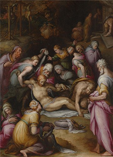 Oil Painting 'Giovanni Battista Naldini Lamentation Of The Dead Christ' 24 x 33 inch / 61 x 85 cm , on High Definition HD canvas prints is for Gifts And - Market Fair Princeton