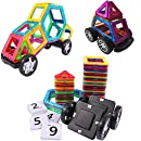 Magnetic Building Blocks STEM Toys - Gifts Ideas for 6 7 8 Year Old Boys Girls and Adults - 56 pcs