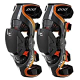 POD Unisex-Child K1 Knee Brace (Grey/Orange, Youth Medium) (Pair)