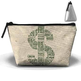 Amazon.com: Trapezoidal Cosmetic Bags Makeup Toiletry