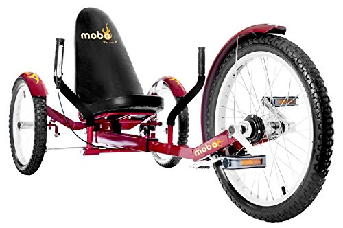 Mobo Triton Pro Recumbent Trike. Adult Beach Cruiser Tricycle for Women & Men. Petal 3-Wheel Bike