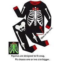 IF Pajamas Little Boys Halloween Skeleton Pumpkin Pajamas Sets Girls Pjs