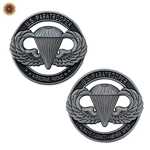 V/P- US Paratrooper Commemorative Challenge Coin Home Decor the United States of America Airborne Metal Coins for Birthday Gifts, repilca toys