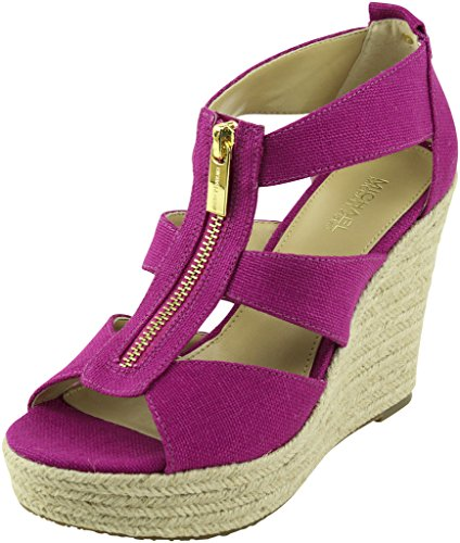 MICHAEL Michael Kors Women's Damita Wedge Fuchsia Sandal 7.5 M