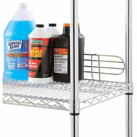 """Alera Wire Shelving Back Support, 36"""", Silver, 2-Pack"""
