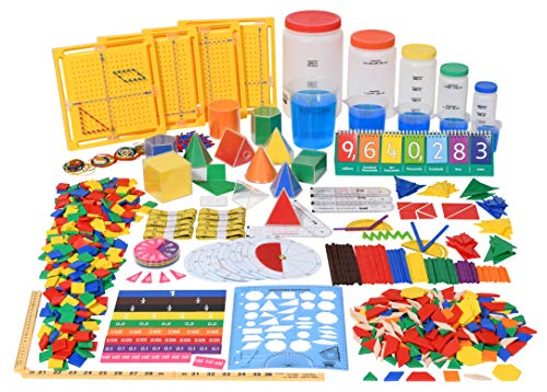 (edx education Classroom Math Kit - For Grades 5 and 6 - Teach Math Lessons - Includes 16 Versatile Teaching Resources and)