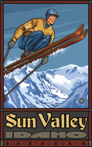 Northwest Art Mall Sun Valley Idaho Ski Jumper Artwork by Paul A Lanquist, 11-Inch by - Mall Idaho