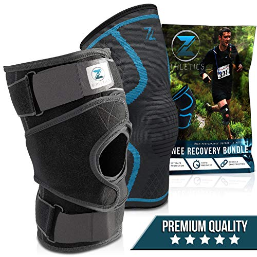 Zenith Knee Brace and Sleeve Bundle – Adjustable Knee Braces for Men and Women, Best Neoprene Compression for Knees with Meniscus Tear, Arthritis, Knee Pain, MCL, ACL (Medium)