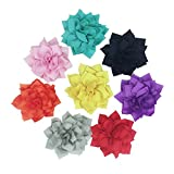 HBEDU Dog Collar Accessories Flower Pet Charms Slide Flowers Collars Decoration For Cat Puppy Bowtie Grooming Pack of 8