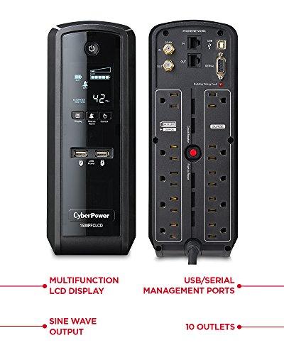 Cyberpower Cp1500pfclcd Pfc Sinewave Ups System 1500va
