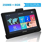 Navigation Systems for Car/Truck, Jimwey 8GB 256MB GPS Navigation for Car, Capacitive Touch Screen Pre-Loaded US/CA/MX 2018 Maps, POI Search, Speed Camera Alerts, Lifetime Free Map Updates (5 inch)