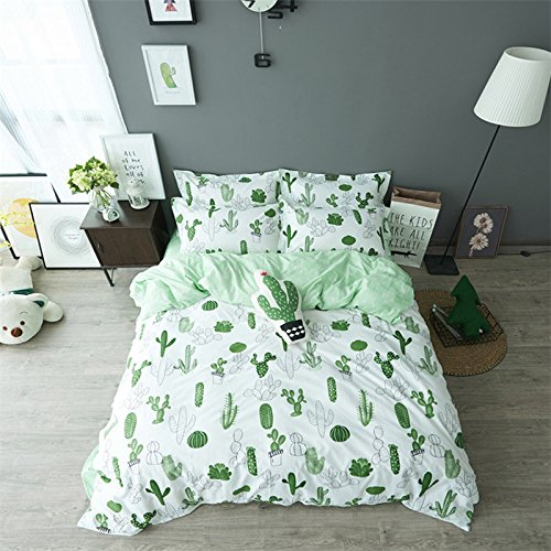 auvoau-simple-cactus-bedding-childrens-cartoon-duvet-cover-set-girl-bedding-set-4pc-queen-1