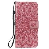 Lomogo Huawei P Smart+ 2019/Honor 10i Case Leather Wallet Case with Kickstand Card Holder Shockproof Flip Case Cover for Huawei P Smart Plus 2019 - LOKTU020249 Pink