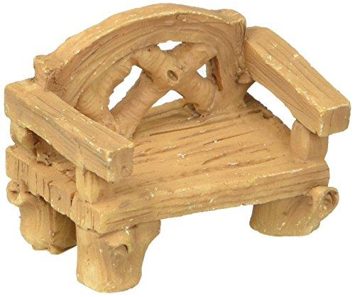 Darice 3DL-85661 1.5x2in Mini Garden Bench Wood Look ()