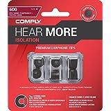 Comply 17-60101-21 Premium Replacement Foam Earphone Earbud Tips, Isolation T-600, 3 Pairs, Medium, Black
