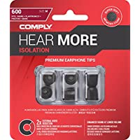 Comply Isolation Noise Cancelling Memory Foam Earphone Tips for 1More Triple Driver & Quad Driver, Bose SoundTrue Ultra, Rowkin, SoundPEATS QY7 &More Soft Replacement Earbud Tips T-600(Medium, 3 Pair)