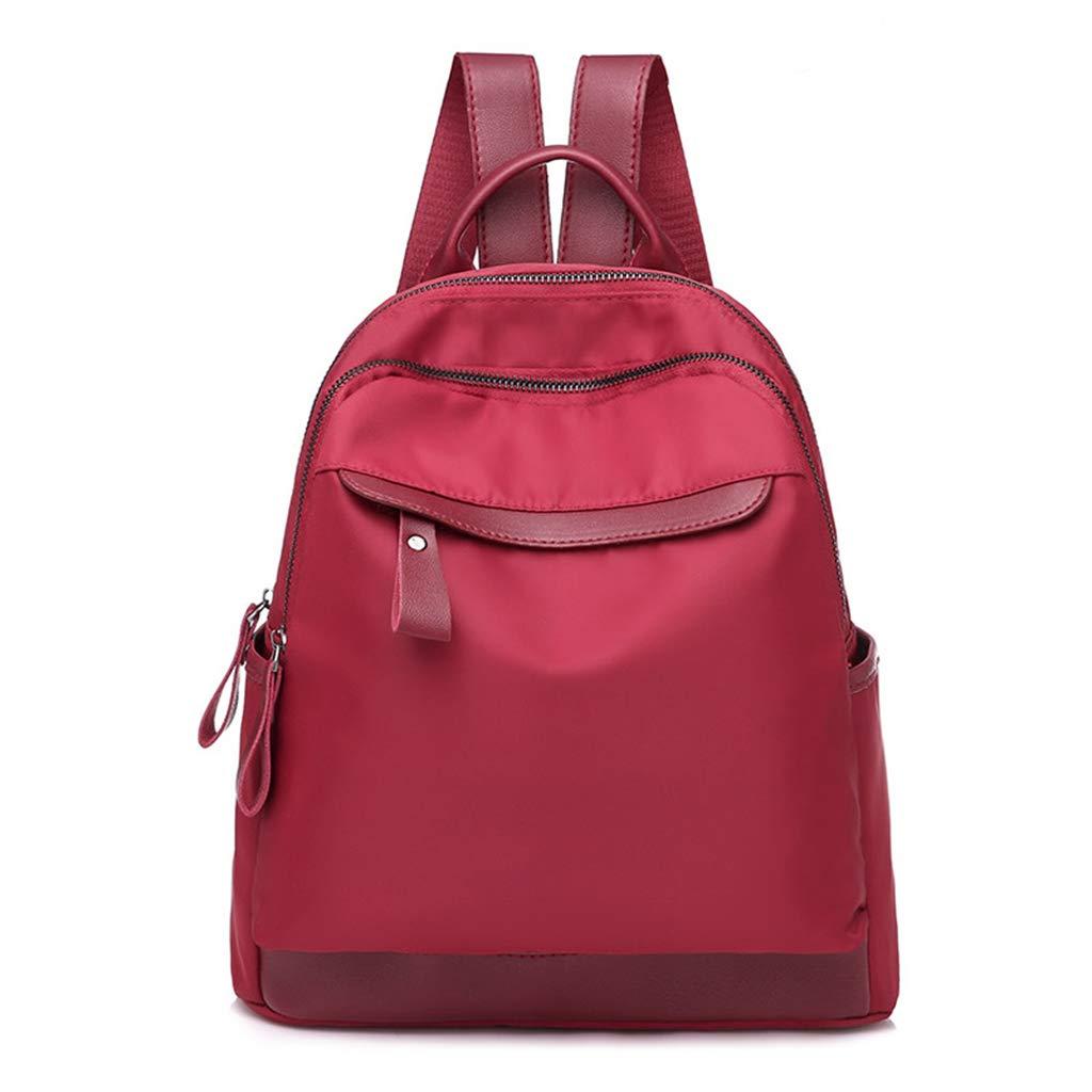 Tebatu Backpack Purse,Fashion Nylon Daypack Waterproof for Women Girls Red