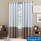 """NICETOWN Mix and Match Blackout Curtains - Thermal Insulated Blackout Curtains for Bedrrom (1 Panel,52 by 108"""",Platinum & Taupe)"""