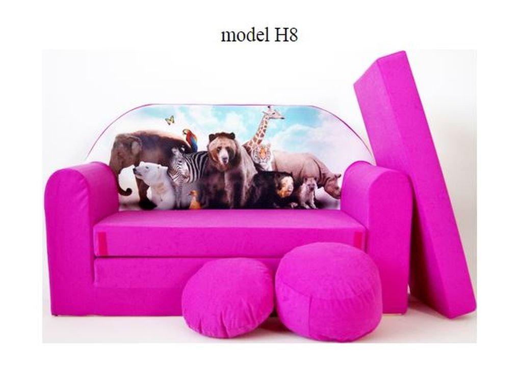 articolicasaonline Kindersofa, Kindermö bel, Kinderzimmer, Sitzsack, Mini Sitzsack,Konvertiert in Ein Mini-Sofa-Bett DECOONLINE