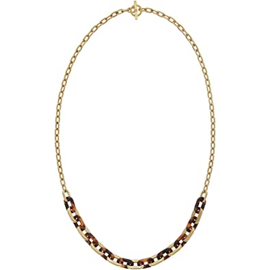 28520dd9a9ce Ladies Michael Kors PVD Gold plated NECKLACE MKJ5434710: Amazon.co.uk:  Jewellery