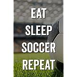 Damdekoli Eat Sleep Soccer Poster, 11x17 Inches, Wall Art, Futball Print