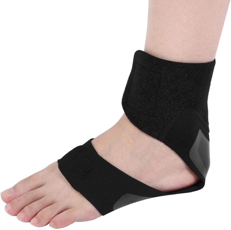 Tobillera ortésica para tobillo ortésica para fascitis plantar, ortesis de pie ajustable, soporte de pie para el pie, soporte para el tobillo para aliviar el dolor y dolor de articulaciones