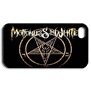 Gators Florida USA Music Band D3 Motionless In White Print Black Case With Hard Shell Cover for Apple iPhone 4/4S
